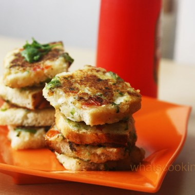 vegetable Toast - breakfast, snack, vegetarian, kids school lunch box, kids tiffin box