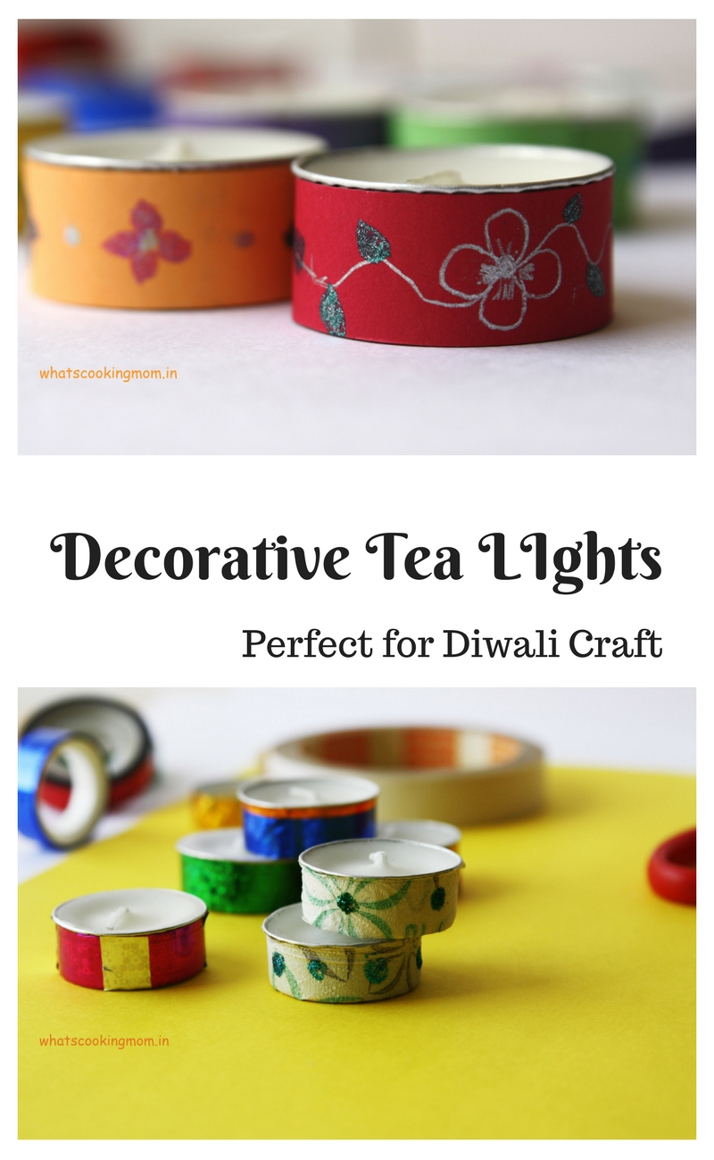 Decorative Tealight Candles - Diwali craft, Diwali school project