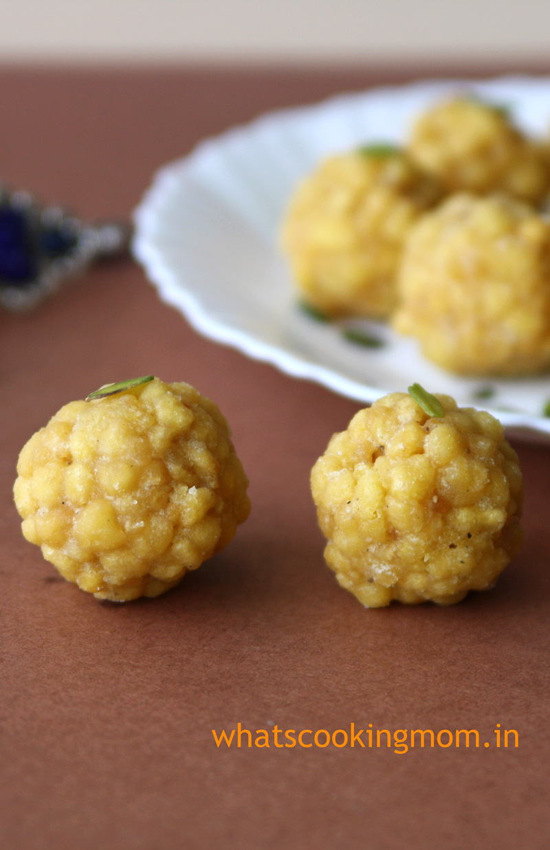 Boondi Ladoo - festival sweets, indian | whatscookingmom.in