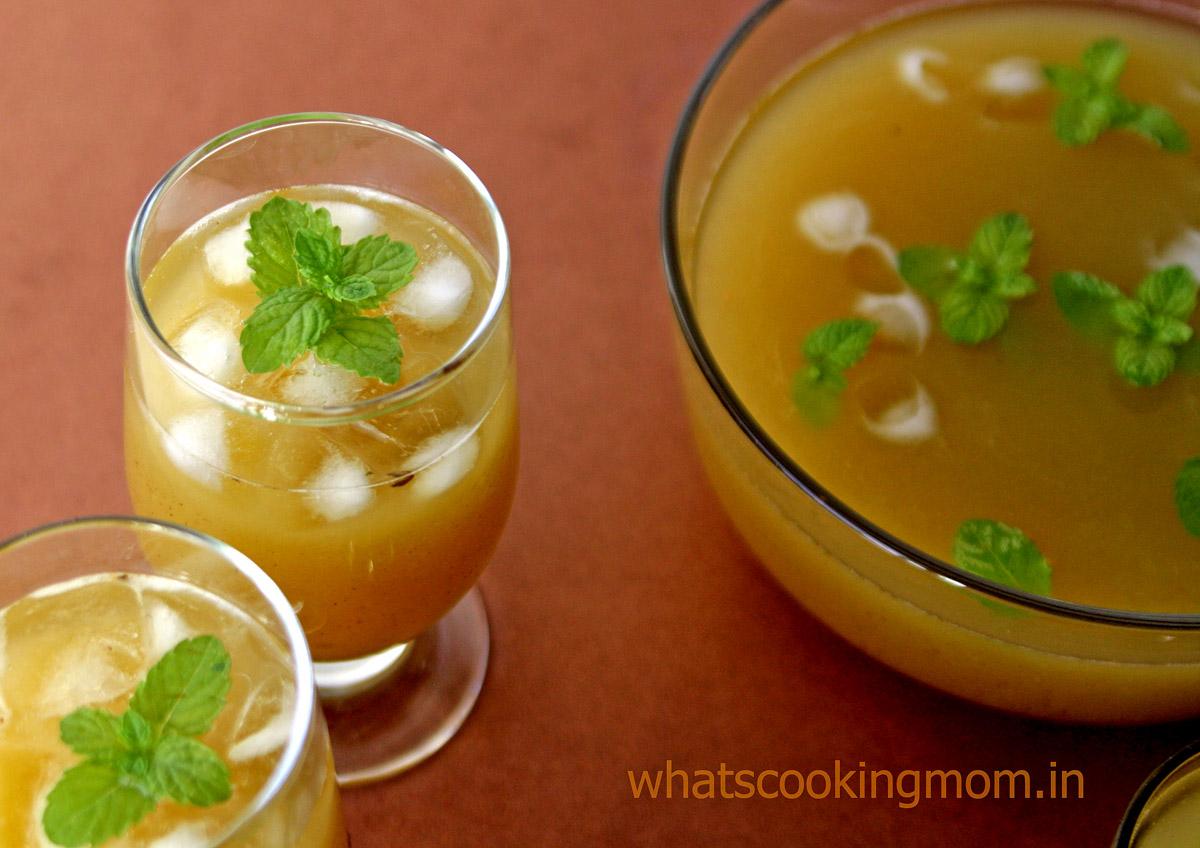 Indian Summer cooler served in glasses