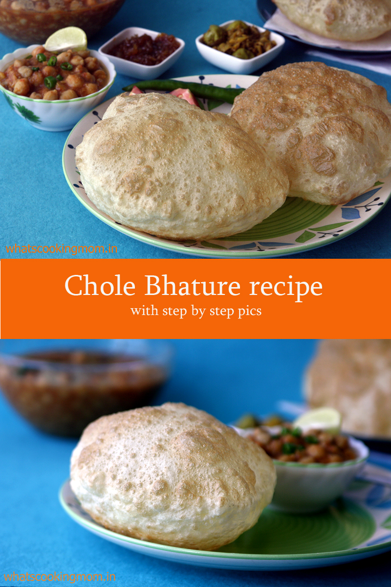 Chole Bhature - yummy popular Indian vegetarian snack, street food