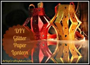 DIY-Glitter-Paper-Lantern