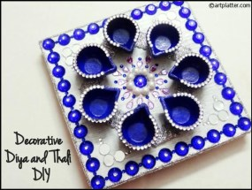 Decorative-Diya-n-Thali