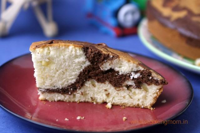 eggless marble cake 12