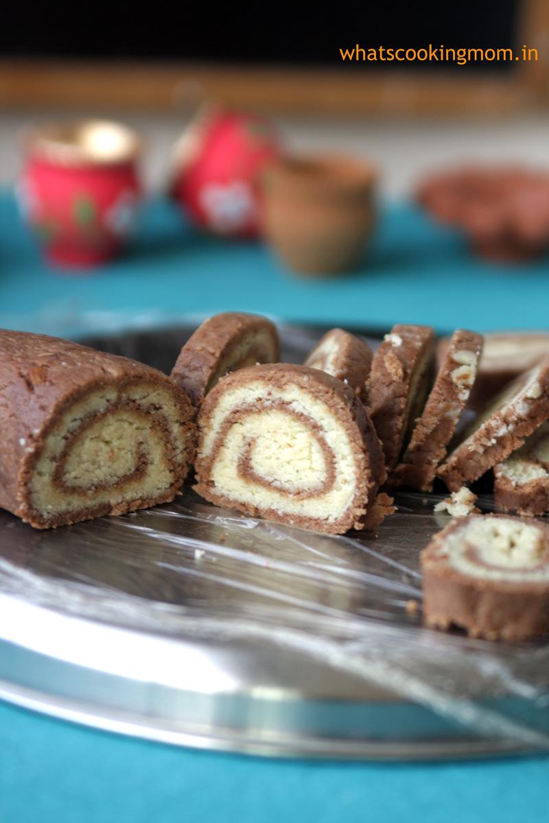 CHoco mawa rolls - festival sweet. very easy to make   whatscookingmom.in