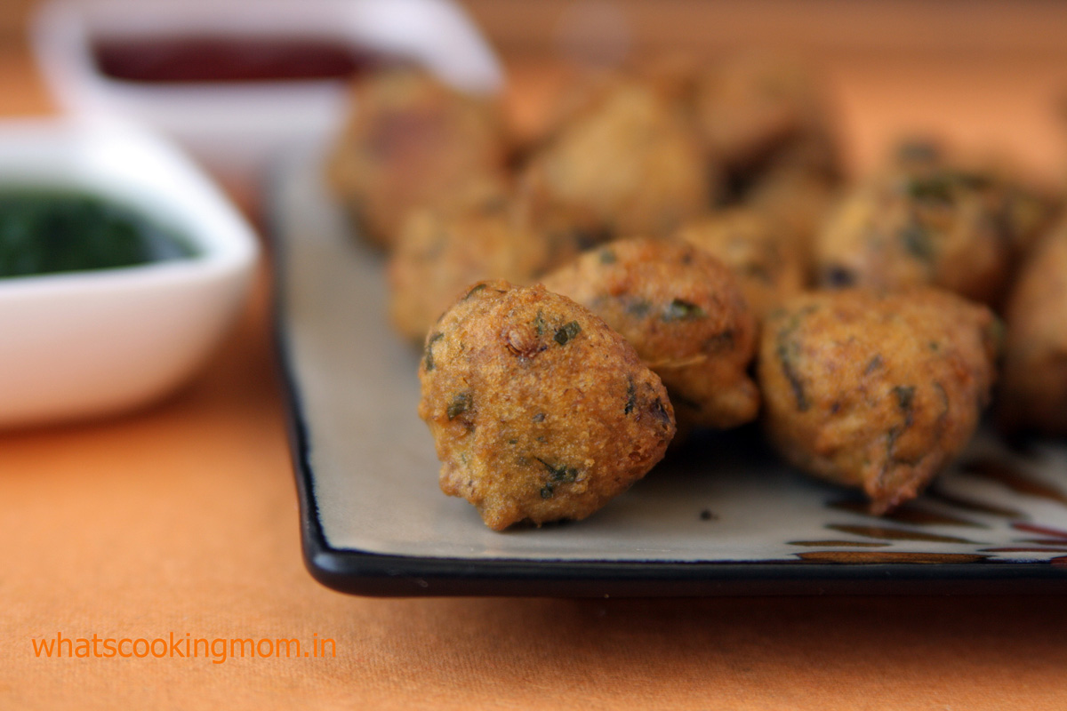 Moong Dal Pakode - These vegetarian fritters are winter special traditional food of Jaipur perfect for evening snacks known as Paush Bada