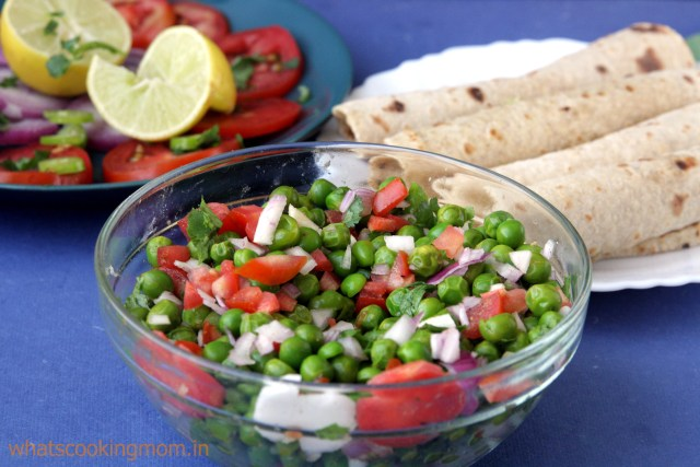 matar ki chaat - fresh peas snack, healthy, quick and easy, vegetarian, snack recipe