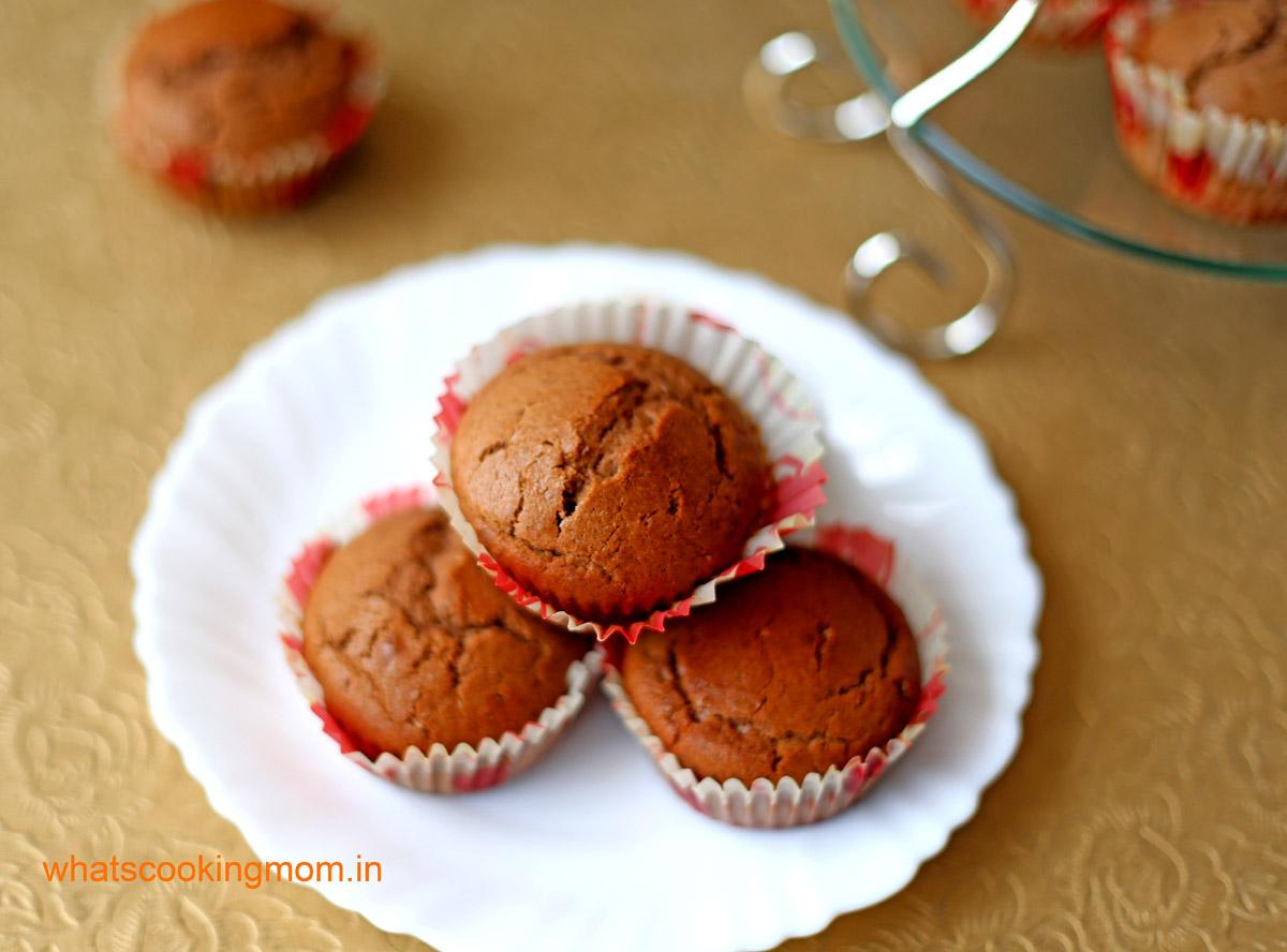 Eggless Chocolate Muffin