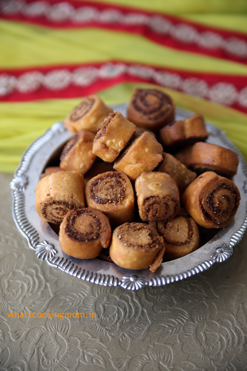 bhakarwadi - It is a spicy Tea time snack with a hint of sweet and slightly tangy. #festival #indian #snack | whatscookingmom.in