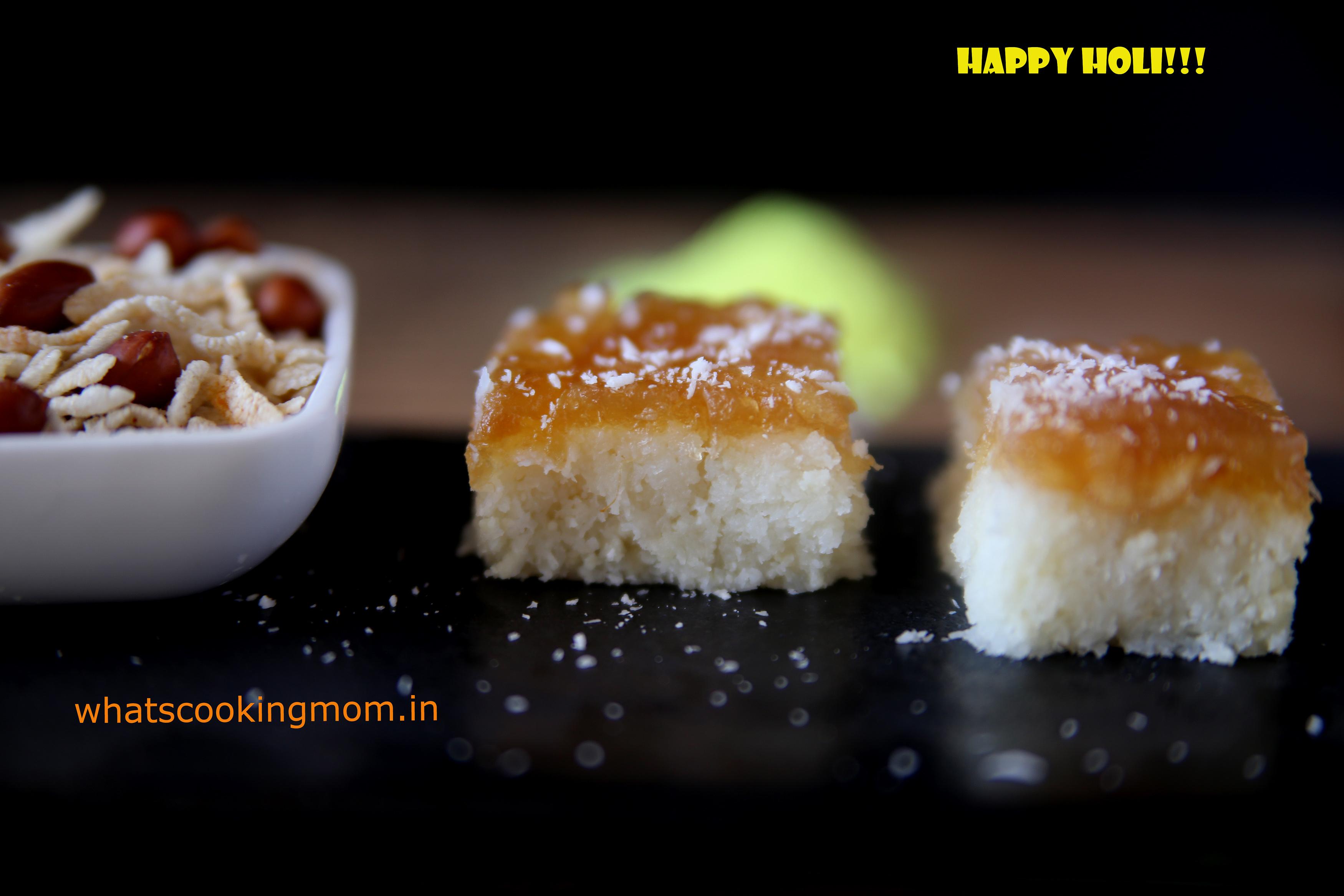 nariyal burfi with apple pie filling 4