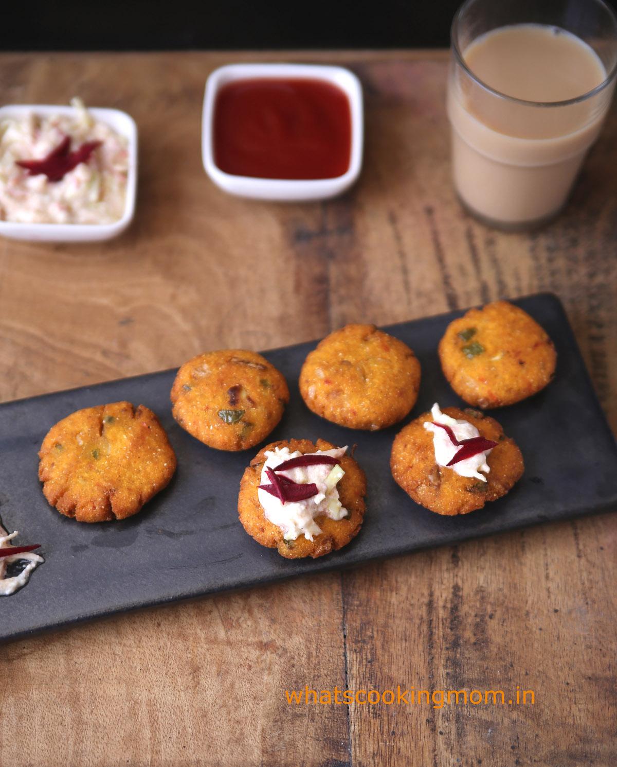 Makka atta cutlet - maize flour cutlets, breakfast, vegetarian, snacks