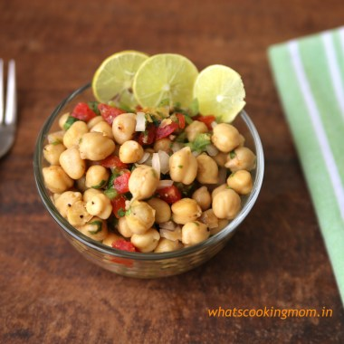 Chickpea salad - full of protein, healthy, flavorful, easy to make | whatscookingmom.in