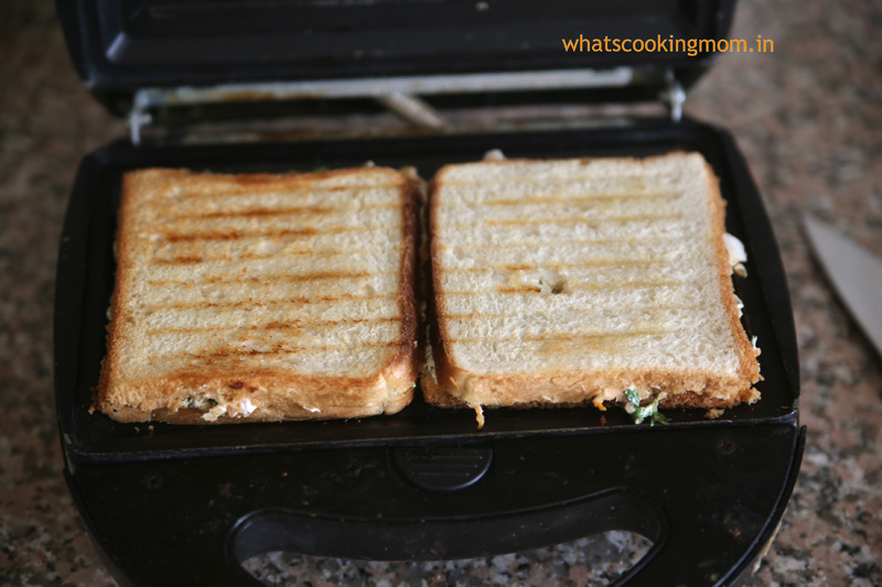 Hung Curd Sandwich-Healthy vegetarian snack, perfect for school lunch box, breakfast, tea time