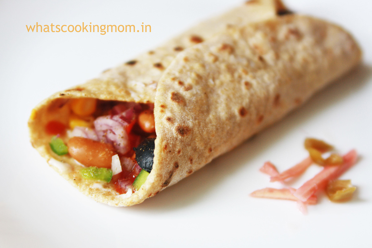 Healthy red kidney bean burrito | 5 fast foods made healthy