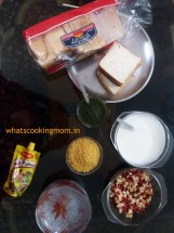 Bread Dahi Vada- very easy to make, vegetarian snack, no cooking required, Indian, chaat recipe