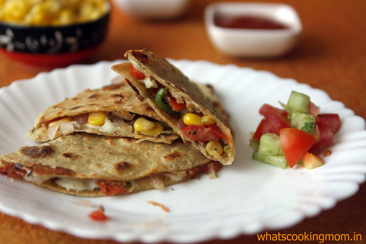 Vegetable quesadilla | 5 fast foods made healthy