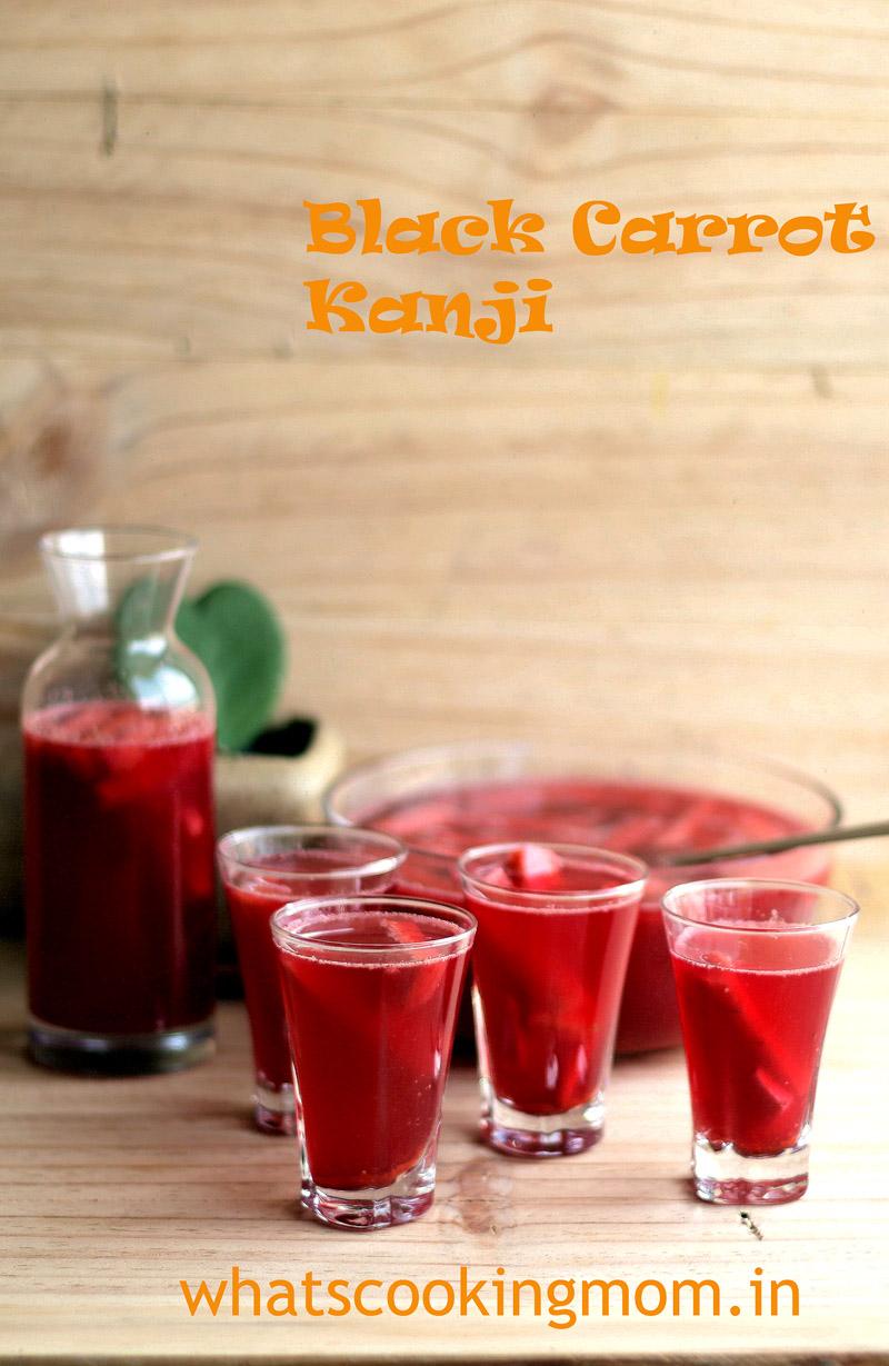 kali gajar kanji - black carrot kanji. Fermented, healthy, super delicious carrot drink