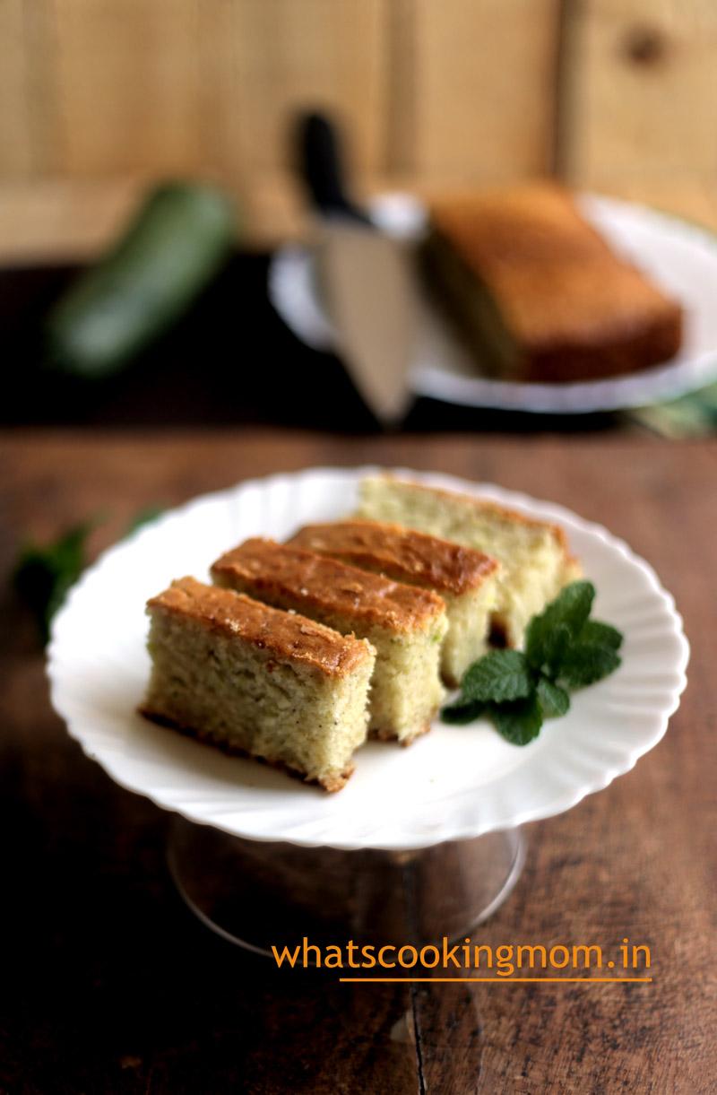 Eggless Zucchini cake - Eggless baking, healthy, cake, nuts, cinnamon flavored cake