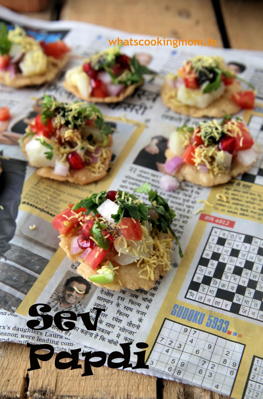 Sev Papdi - Indian Chaat Recipe, #vegetarian #snacks #chaat #indian