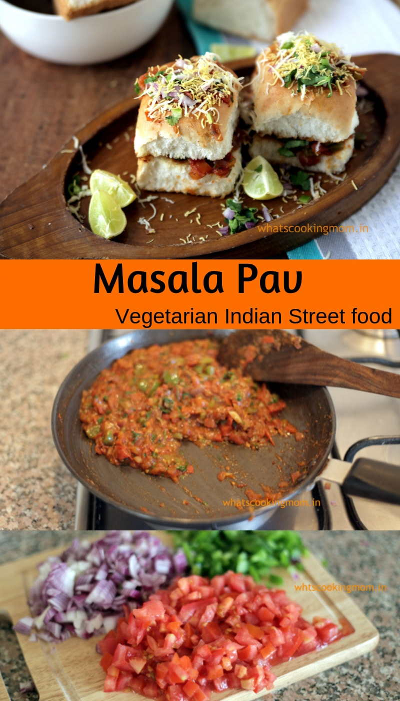 Masala Pav - famous street food of mumbai. #yummy #vegetarian #streetfood #india #mumbai #stepbystep
