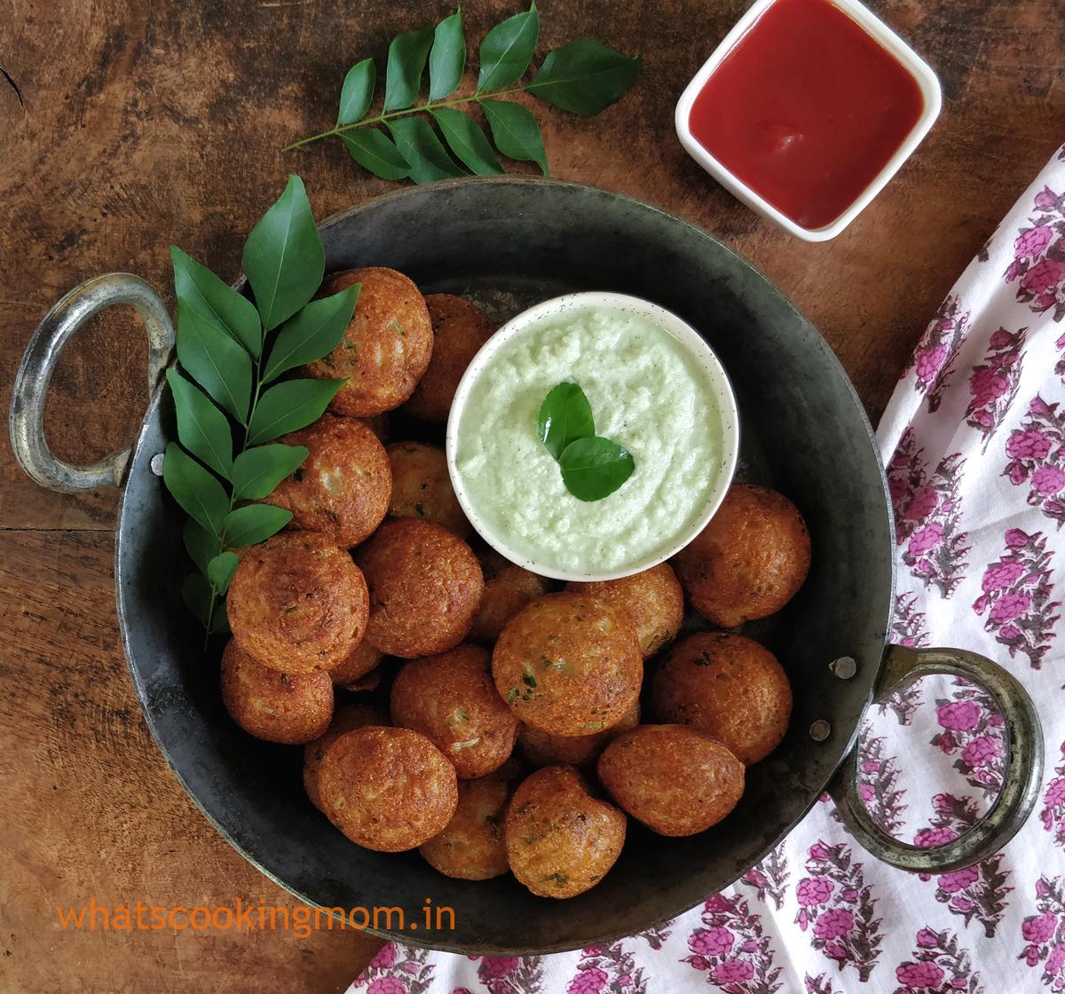 Instant Rava Appe/ appam/ paniyaram - quick, #healthy #vegetarian #snack #suji #semolina