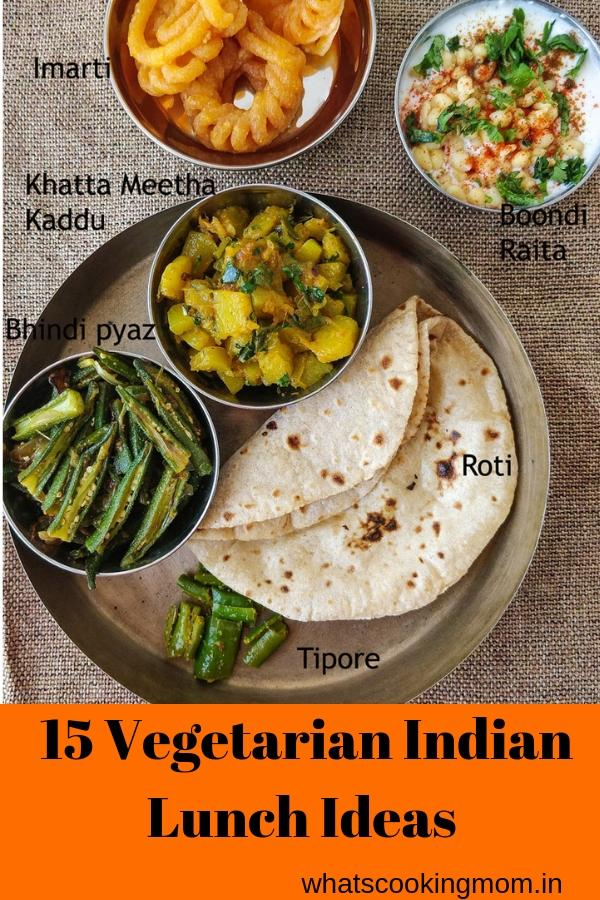 15 vegetarian Indian lunch ideas part 2 - #indian #lunchideas #vegetarian #thali