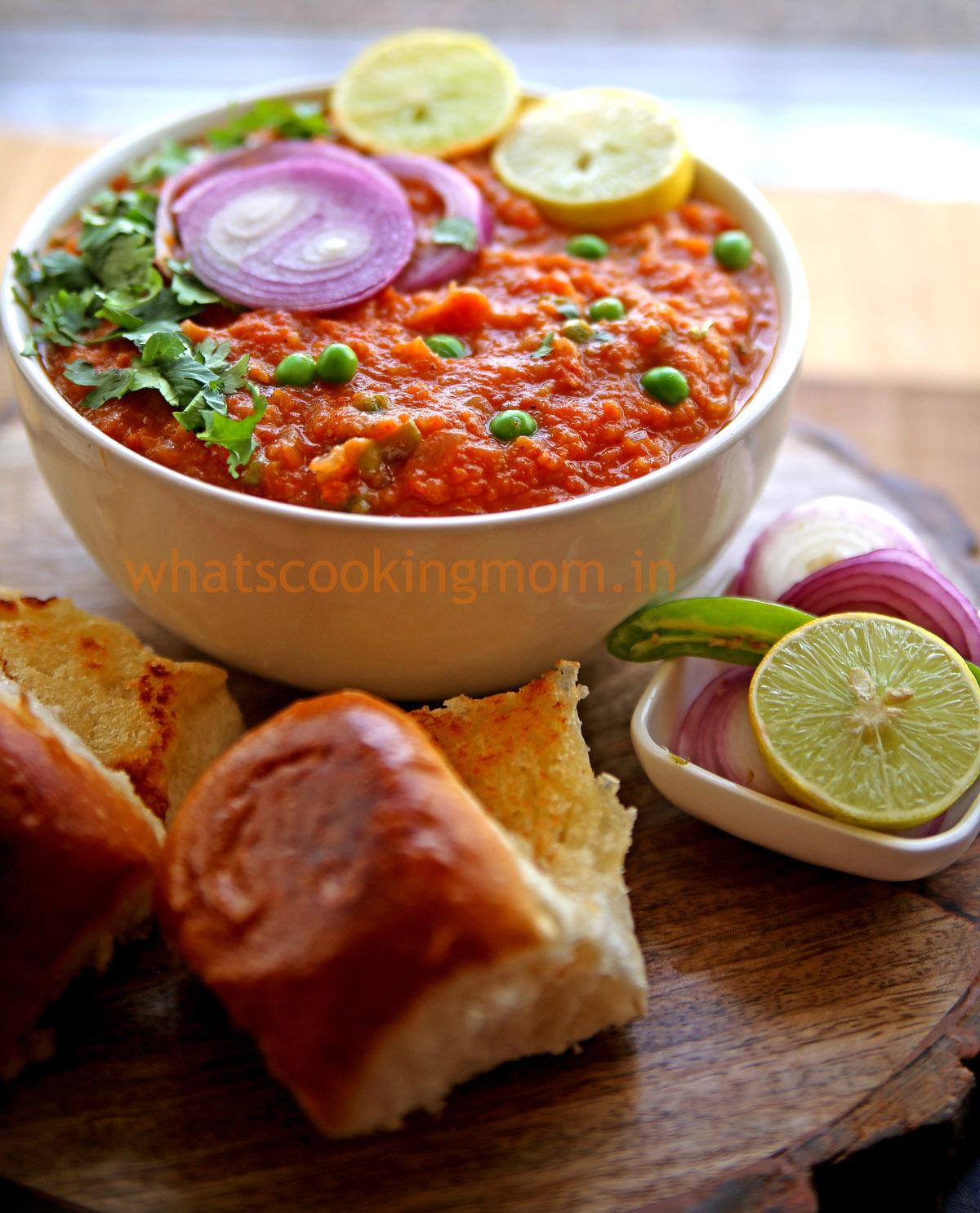 Pav Bhaji Indian Street Food Whats Cooking Mom