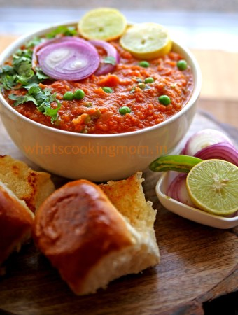 Pav Bhaji - Vegetarian Indian Street food made with lots of vegatables
