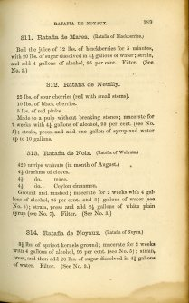 Manual for the Manufacture of Cordials, Liquors, Fancy Syrups, sample ratafias