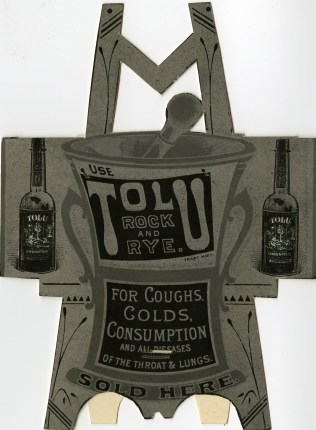 Tolu Rock & Rye advertisement, c. 1880-1881 (front)