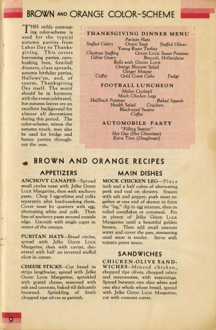 As you can see, brown and orange parties have a wide variety of uses, from football games to picnics.