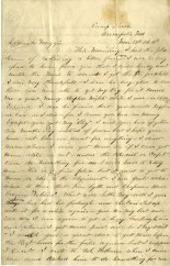 William Tippett's 8 page letter was written to his wife, Maggie, from a parole camp in Annapolis, MD, in March 1864.