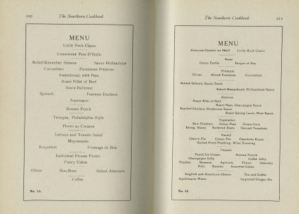 Sample menus