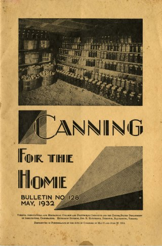 Canning for the Home, 1932