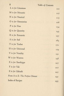 Table of contents, continued
