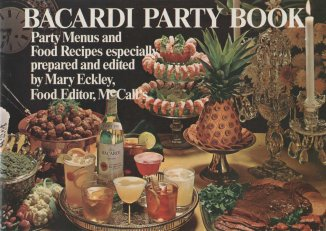 Bacardi Party Book. Our cocktail ephemera collection has lots of these, and this the newest one. And no, that's NOT a pineapple on the cover!