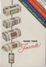 Bond Bread pamphlet. This pamphlet includes primarily sandwich recipes.