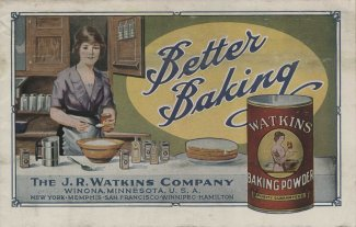 Better Baking. This pamphlet from J. R. Watkins Company is yet another new baking powder advertisement for our collection! We hadn't come across this company before.