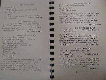 Blacksburg's Best, 1968, Appetizer recipes
