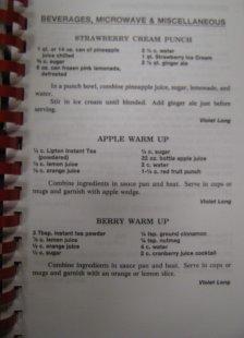 Bread of Life, 1996, Beverage recipes