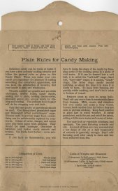 Plain Rules for Candy Making, 1922. General instructions and directions for Maple Sugar Fudge.