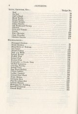 What Mrs. Fisher Knows about Old Southern Cooking. Table of contents (4 of 4).