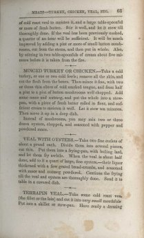 Sample page from New Receipts for Cooking (1854)