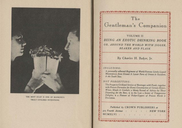 Frontispiece and title page, The Gentleman's Companion, Vol. 2, 1946