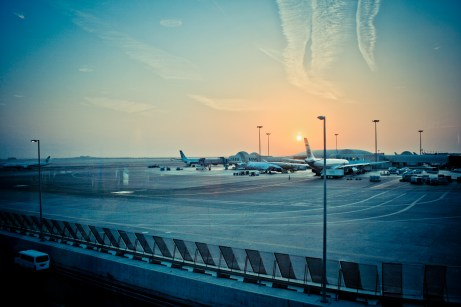 Abu Dhabi Airport Sunrise