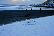 Vík Black Sand Beach in Snow