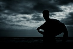 Silhouette Cape Towel Beach