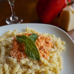 Roasted Red Pepper and Parmesan Pasta
