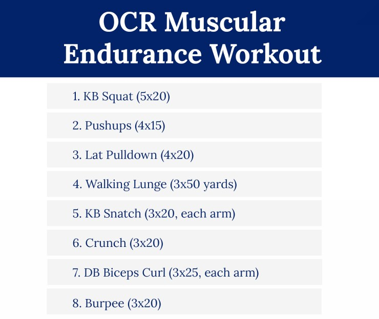 OCR Muscular Endurance Workout