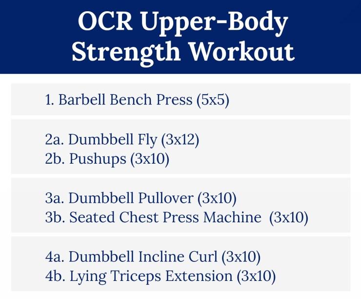 OCR Upper-Body Strength Workout